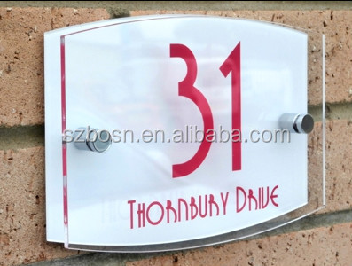 Acrylic door Signs acrylic sign plate door number plates