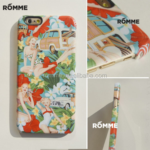 Professional China phone case manufacture customize print 3D sublimation printing PC pattern hard back cover for iphone 6