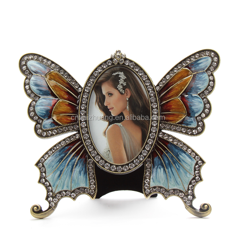 high grade butterfly shape metal picture frame /photo frame HQ111811-23-15