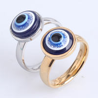 New products gay men ring,fashion turkey blue evil eye jewelry men gay ring
