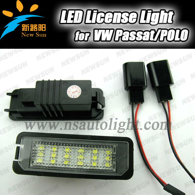 Factory design 18SMD led license plate lamp for golf4/eos/lupo/new beetle/passat/polo/phaeton/scirocco