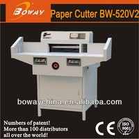 18 Year CE ISO Boway 520mm with side table A4 A3 Pogrammed electric book cutter trimmer