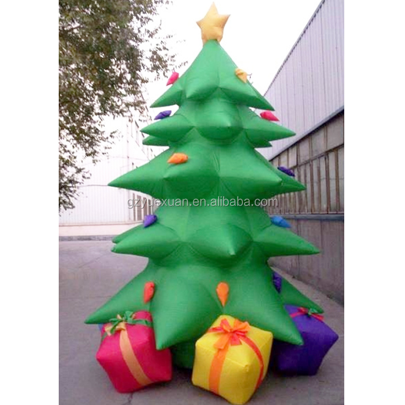 New Arrivals Outdoor Pvc Inflatable Christmas Tree Led Decoration for sale
