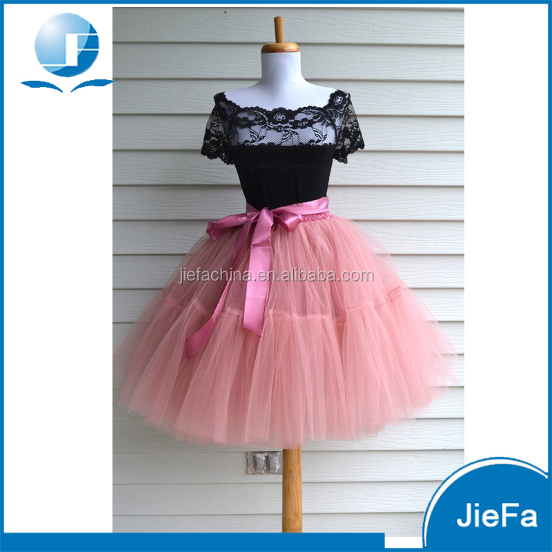 SK-047 New Latest Casual Ladies Puffy Long Tulle Skirts,Fashion Design Women Tulle Tutu Skirts Wholesale