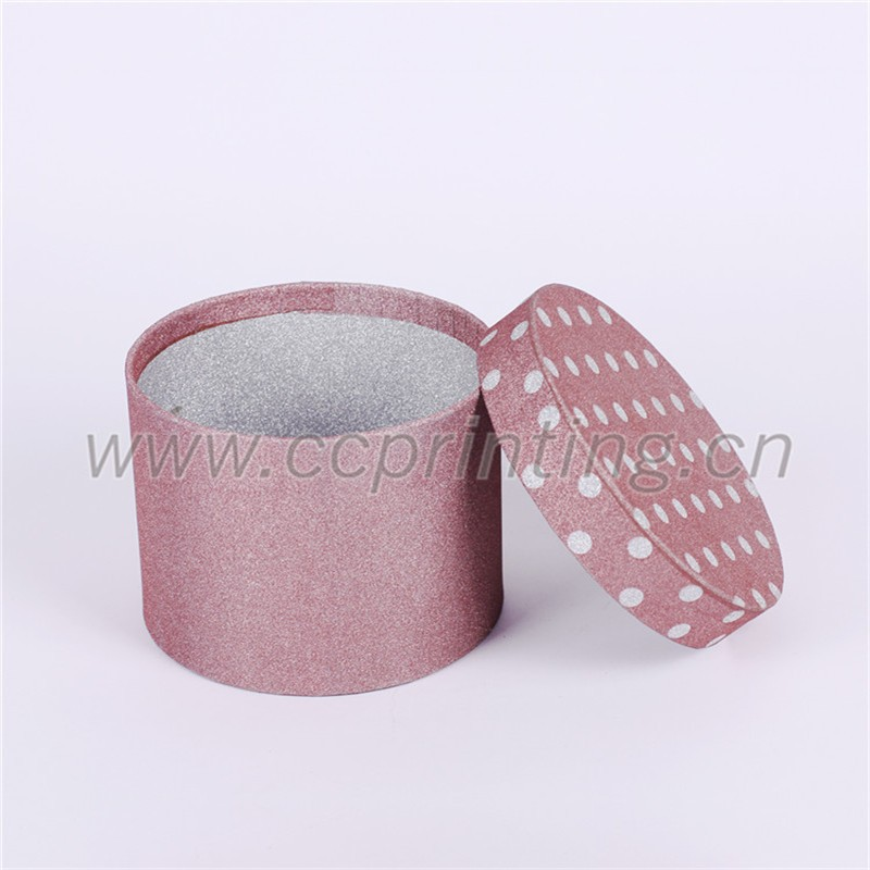 cylinder shaped rigid paper packaging gift box