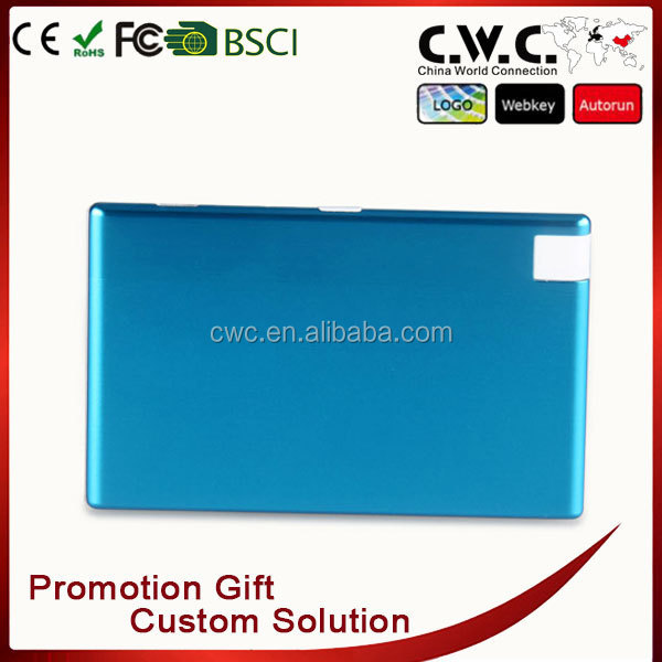Professional gold plated credit card size power bank