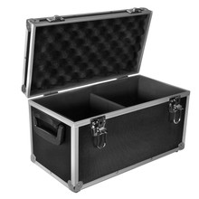 "Aluminium Record Carrying / Storage Flight Case for up to 100x 7"" Vinyl Singles - black"