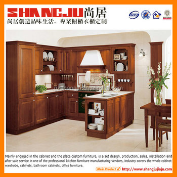 solid wood kitchen cabinets with dish rack design direct from china