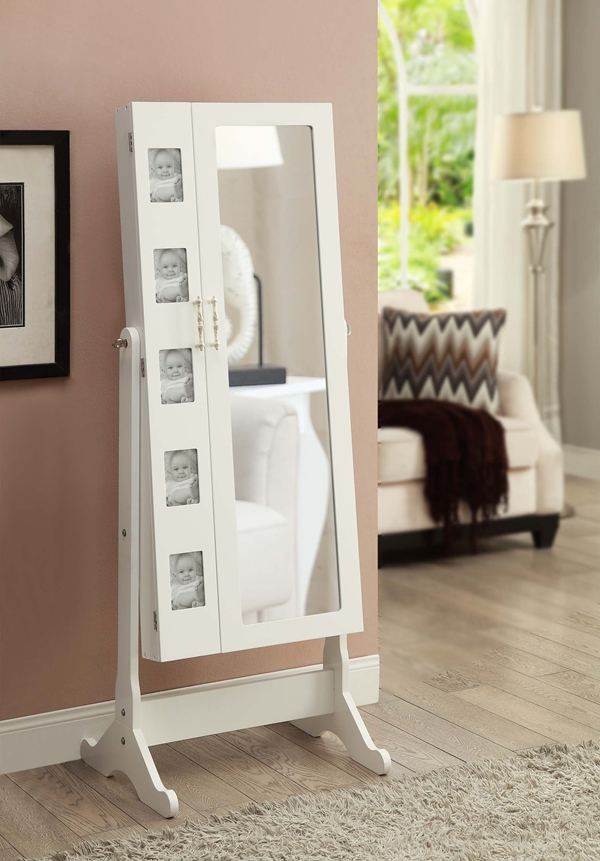 Photo frame 2 doors dressing Mirror Jewelry Armoire
