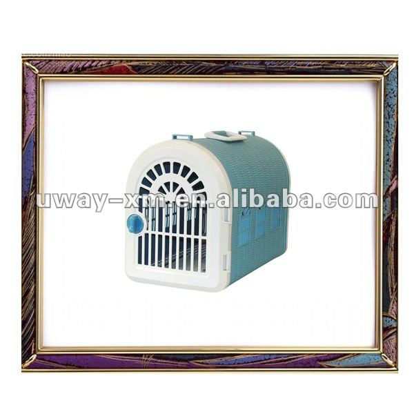 UW-FC-021 2011 new design cozy light-blue plastic animal cage for dogs and cats living