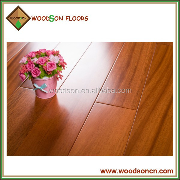 Solid asian teak wood flooring price from China woodson