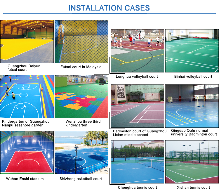 Shock Absorption Basketball Court Price Portable