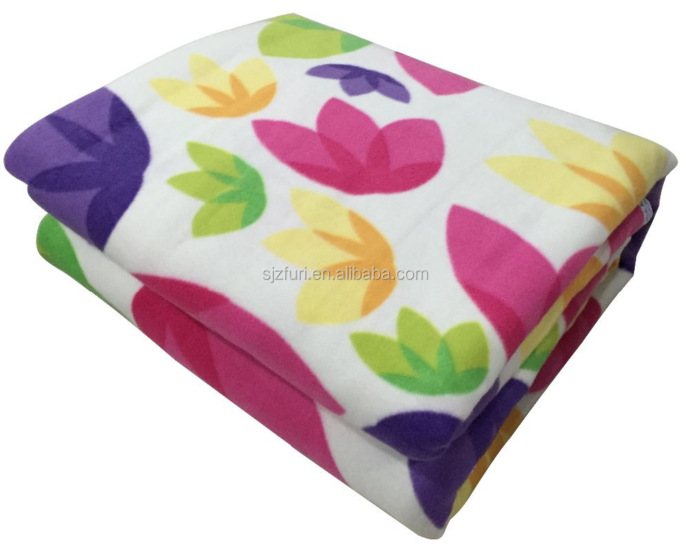 Portable Warshable Printed Cotton Warm Electric Blanket For Cold Winter