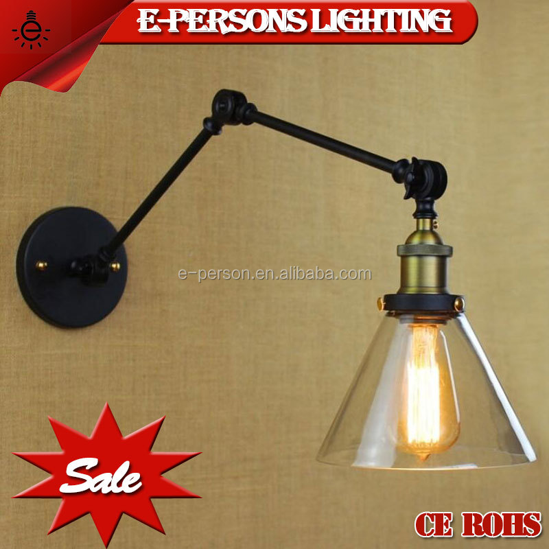 Hot sell led lights e27 220v vintage style led the lamp glass wall lamp