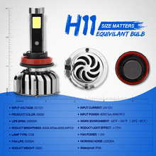 N7 Car LED Headlight H8 H9 H11 LED Bulbs 80W 8000LM LED Headlights Auto Headlamp Automobile Fog Light Car Front Light