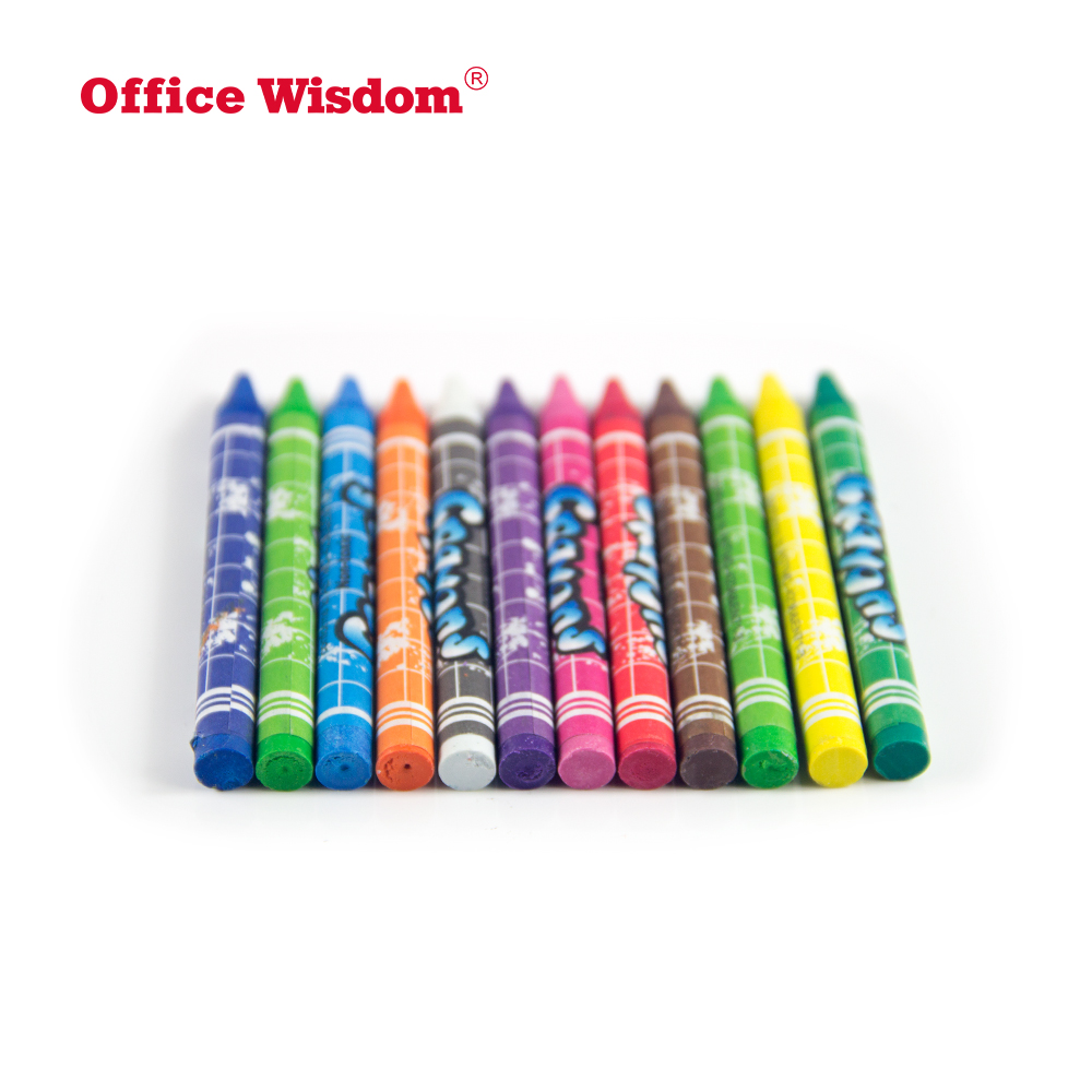Bulk multicolor crayon pen set wax crayon