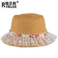 cheap paper straw hat wholesale summer kids hat for promotion