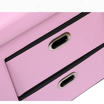 Factory Price  PVC Large Leather  Storage Ottoman Stool with Drawer