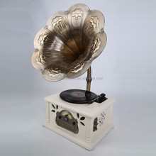 Antique Retro Wooden Gramophone With Usb Mp3 Player 2015