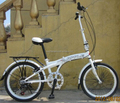 China christmas gift sale folding bicycle with rear carrier