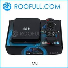 High Quality Set Top Box M8 internet tv box indian channels Factory Price