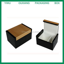 new design two colors luxury wooden tie packing box
