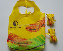 factory custom yellow polyester eco-friendly recycled shopping bags