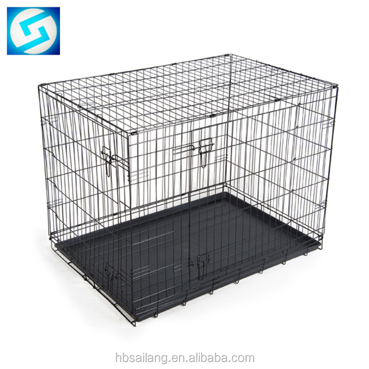 Metal mesh welded durable handmade stainless steel dog cage for sale factory direct