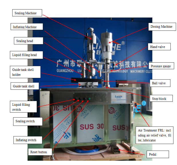 aerosol filling machine manufacturer Semi Automatic Aerosol Deodorant Filling Machine