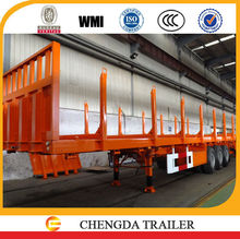Hot selling 20ft & 40ft container flatbed trailer frame with side bar
