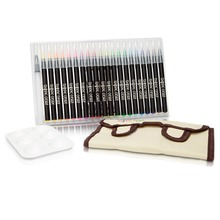 top seller on amazon 24 Colors Art Water Color Calligraphy Drawing Tool Water Brush Pen Brush Washable Marker pen