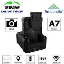 HD Wifi 1296p IP68 Body Worn Camera for Police Security with Laser Positioning