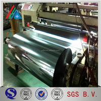 mpet pet metallized thermal lamination films corona treated both side