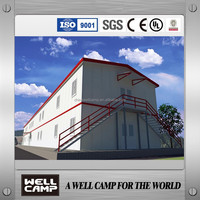 CE certificated modular prefab house T type for dormitory