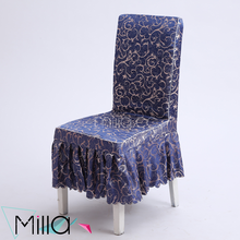 Jacquard Half Drop Damask Polyester Folding Short Chair Covers