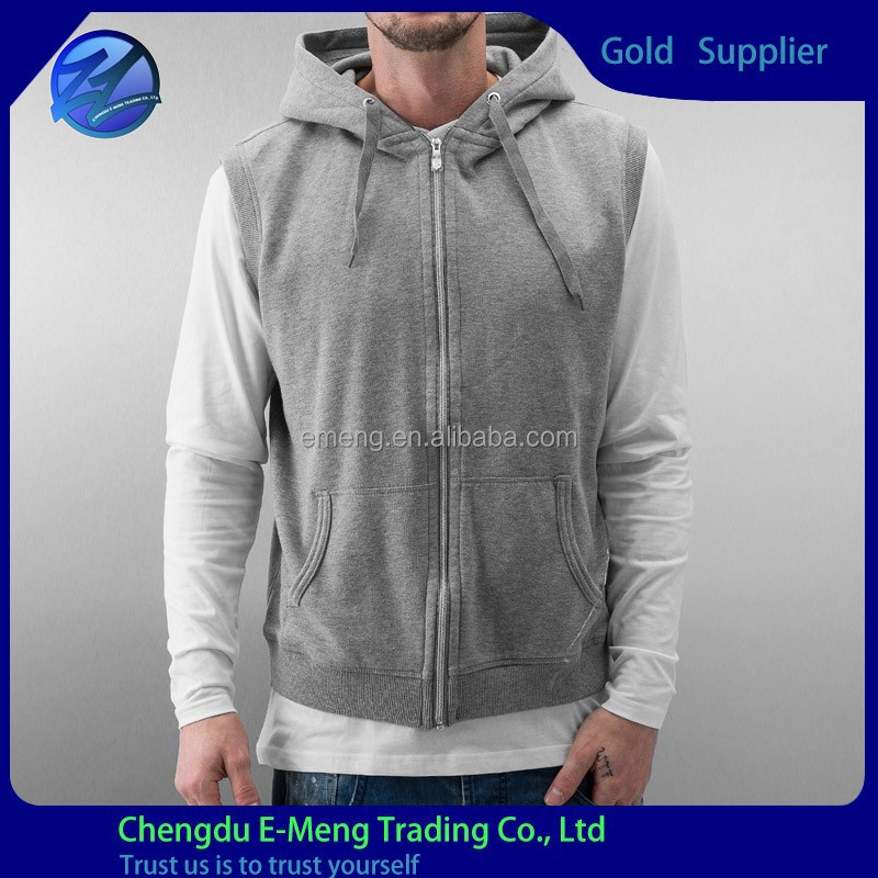 Top Quality New Fashion Zip Up Cotton Fleece Men Hip-hop Elongated Hoodies