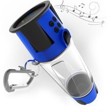 LED Light 4000 mAh powerbank bluetooth water bottle speaker