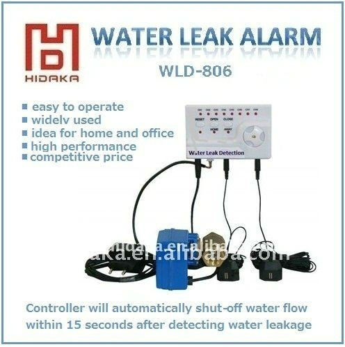 deep water detector US AUS UK E.U AC adapter Water Leak Alarm Detector with auto shut off VALVE flood sensor