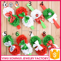 HB-49 In stock baby christmas gift 8 designs bow elastic kids hairbands