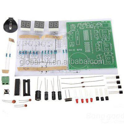 GY601 BRY AT89C2051 DC 6 - 12V 6-Digit LED Electronic Clock Kit Works with DIY Project