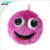 Fuzzy covering gifts Inflatable pvc goggle-eyed toy ball for children