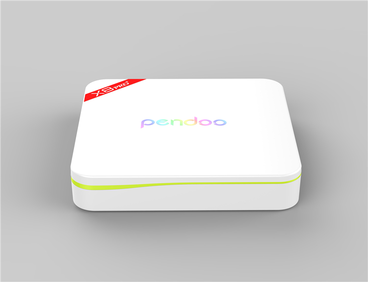 2016 Hot pendoo tv box x8 pro+ 1g 8g android 7.0 white android tv box AD player 17.0