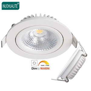 Hotel IP44 SAA Ultra Thin Slim SMD CCT Adjustable 5W 6W 7W 7 Watt Dali Dimmable Recessed Cob Led Downlight