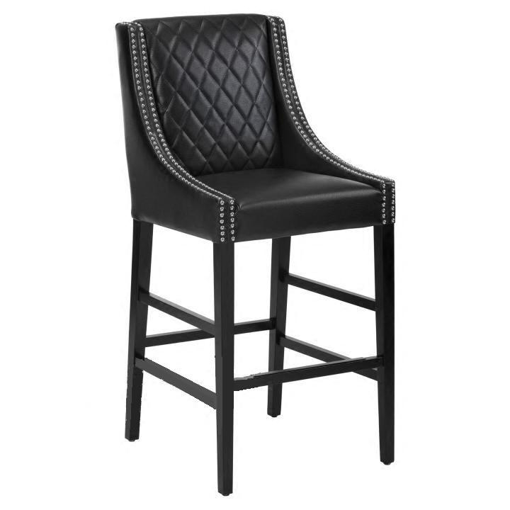 U5 Commercial Grade Restaurant chair Swivel Bar Stools Auburn white <strong>Leather</strong> Backed Barstool