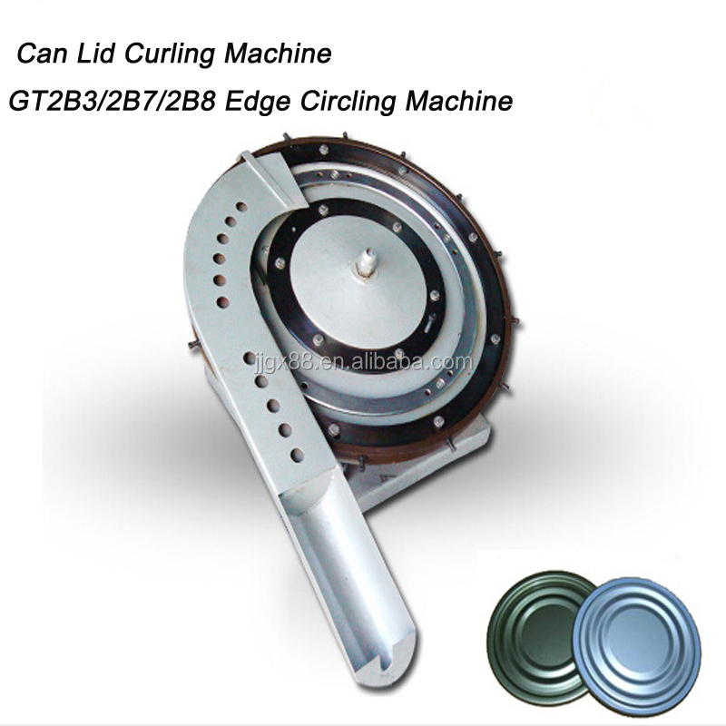 tin can lid edge curling machine for circle edges of round metal lids