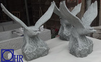 natural stone garden statues eagle