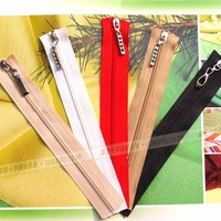 Wholesale zipper of 18cm with metal slider for cross stitch wallet zipper