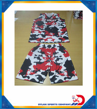 Sublimated camo Custom Basketball uniform