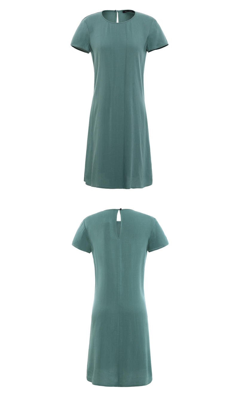 Summer chic round neck short sleeve simple soft short casual dress China garment factory