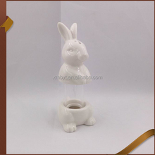 Unique white rabbit salt& pepper shaker ceramic
